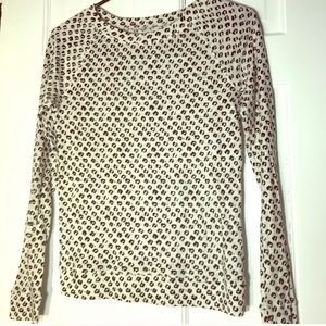 LOFT | Cheetah Print Long Sleeve Shirt